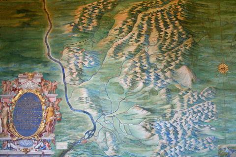 carte d'Avignon et du Comtat Venaissin - Galeries des cartes géographiques - Musées du Vatican (Photo de Jean-Pol GRANDMONT)